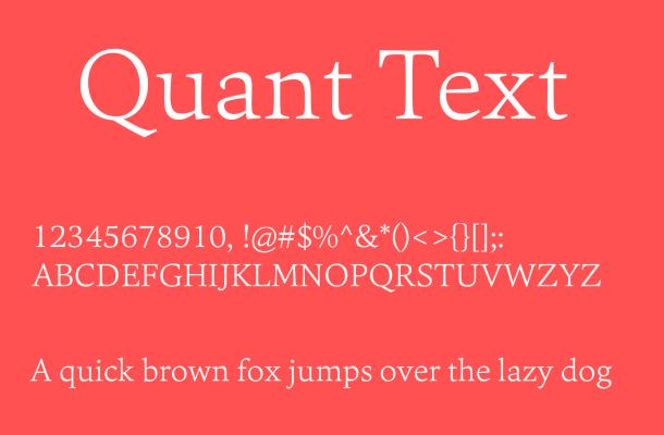 Quant Text Font Free Download