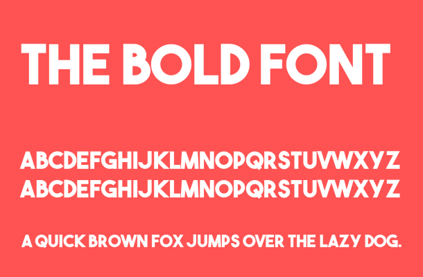 The Bold Font Free Download