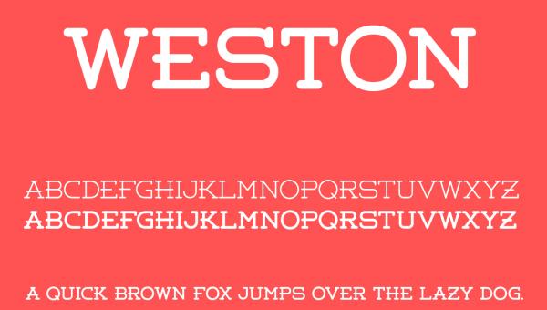 Weston Font Free Download