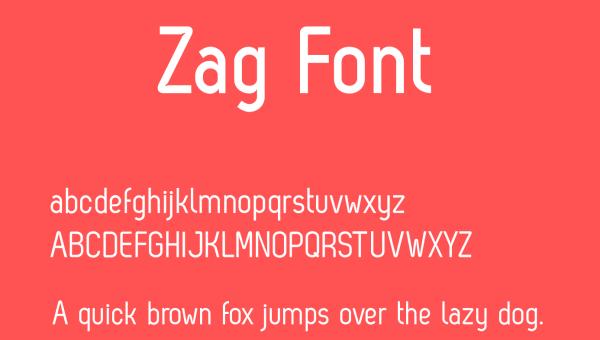 Zag Font Free Download