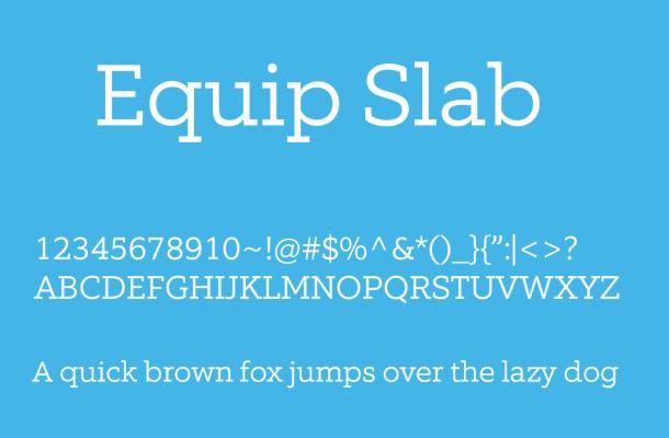 Equip Slab Font Free Download