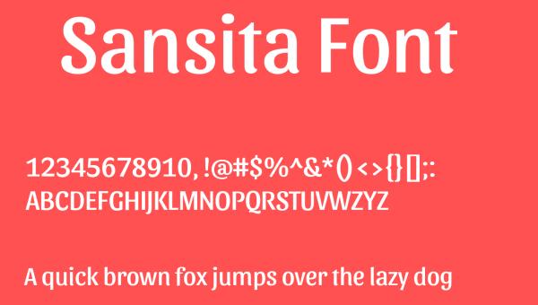 Sansita Font Family Free Download