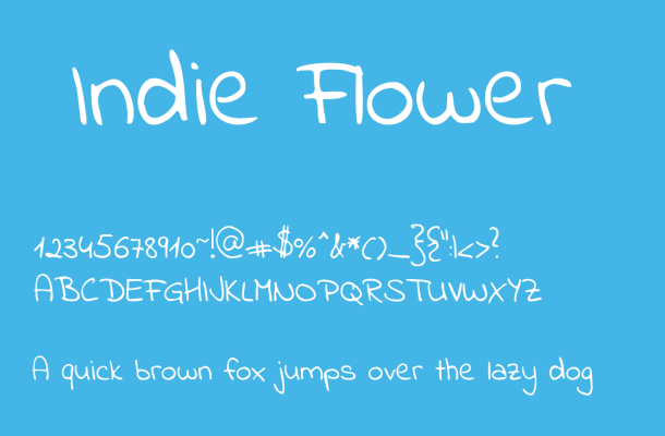Indie Flower Font Free Download