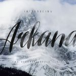 Arkana Script Vintage Font Free