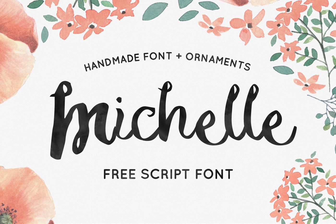 michelle free script font