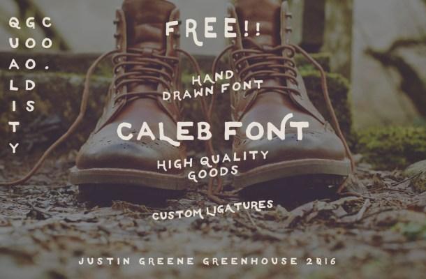 Caleb – Free Hand Drawn Font