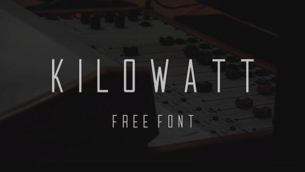 Kilowatt – Free Condensed Sans-Serif