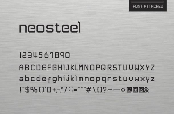 Neosteel – Modern Font Free