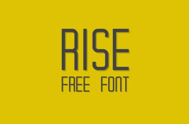 RISE – Free Typeface