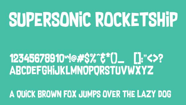 Supersonic Rocketship Font Free