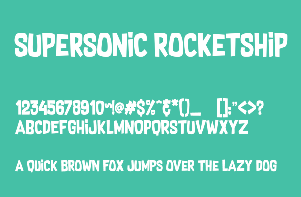 Supersonic Rocketship Font Free