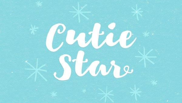Cutie Star Free Script Font