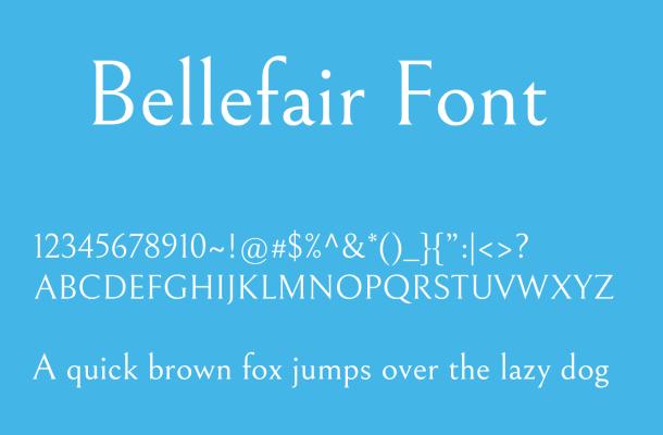 Bellefair Font Family