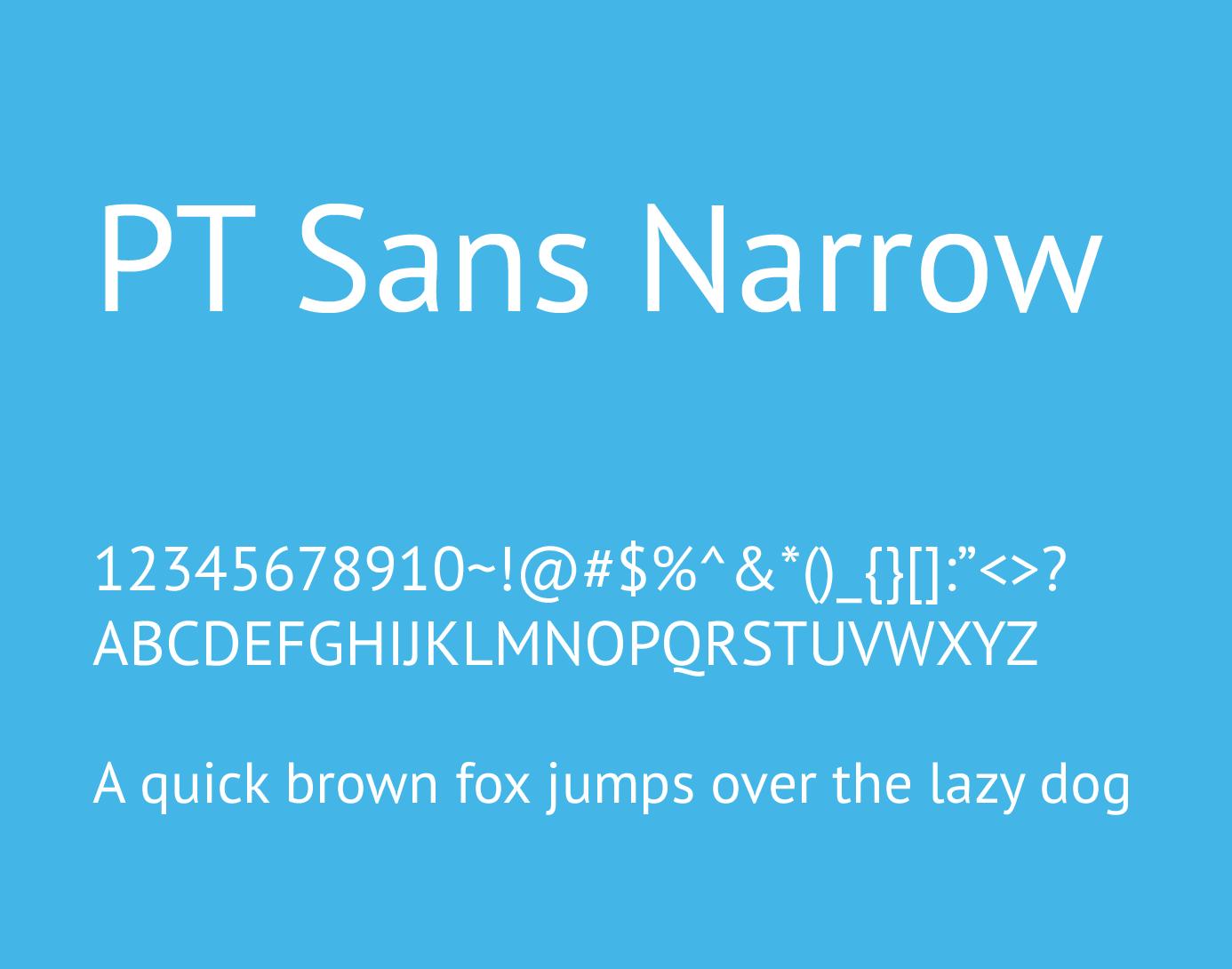 pt sans narrow font