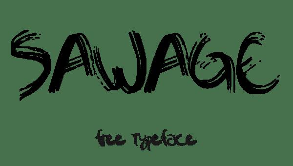 Sawage Typeface Free