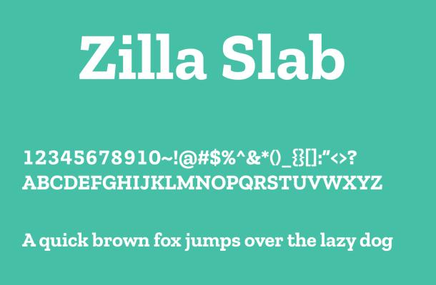 Zilla Slab Font Family