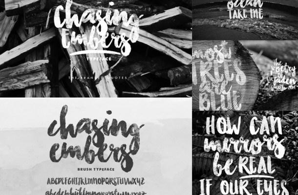 Chasing Embers Free Brush Font