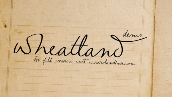 Wheatland Free Handwritten Font