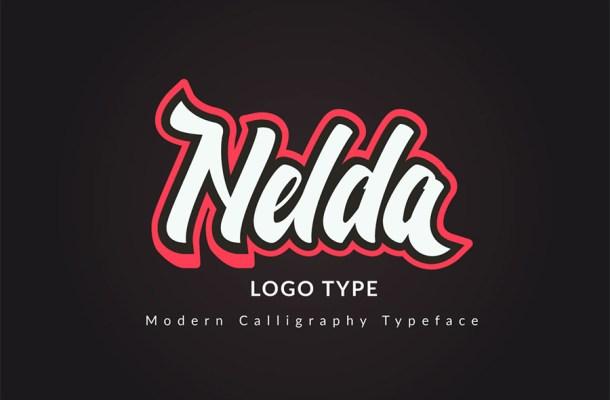 Nelda Free Calligraphy Typeface