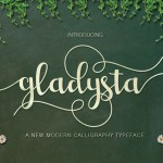 Gladysta Script Free Calligraphy Typeface