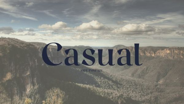 Casual Free Serif Typeface