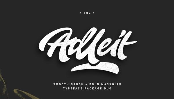 Aldeit Brush Script Free Font