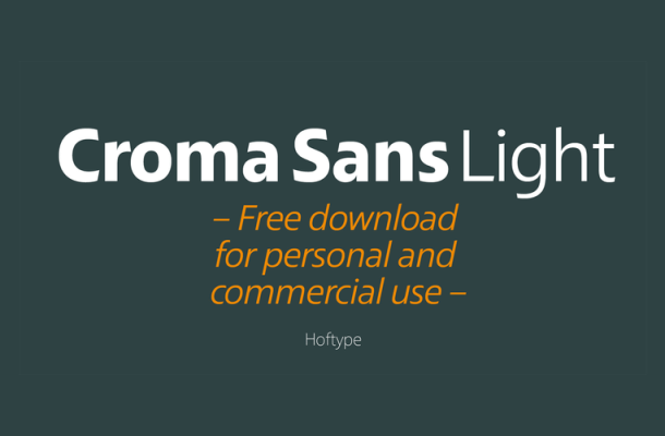 Croma Sans Light Free Font