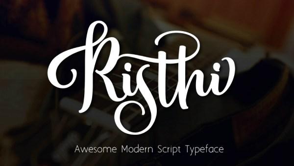 Risthi Script Free Typeface