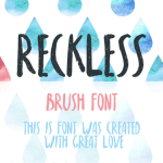 Reckless Free Brush Font