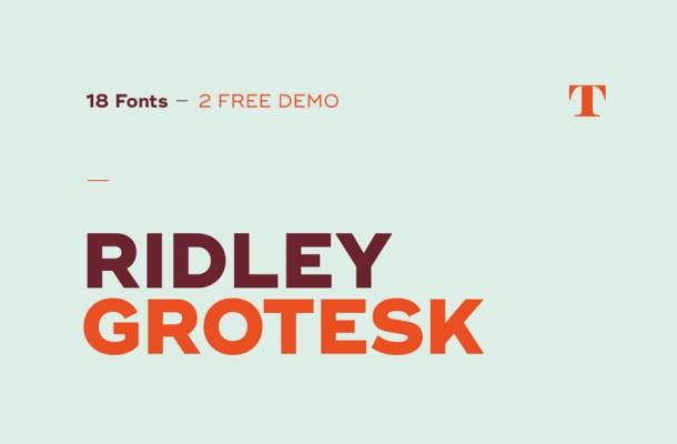 Ridley Grotesk Free Font
