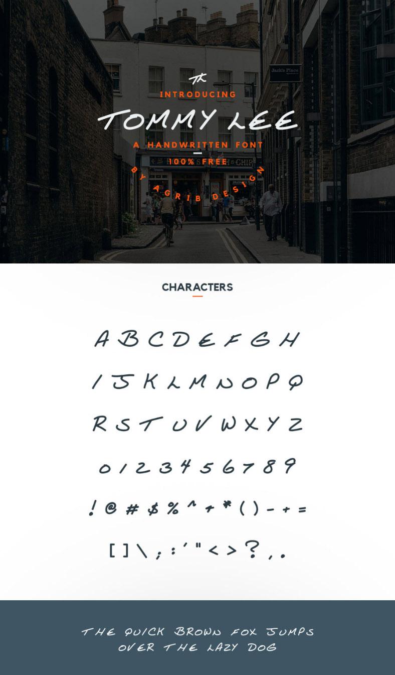 Tommy Lee Free Font