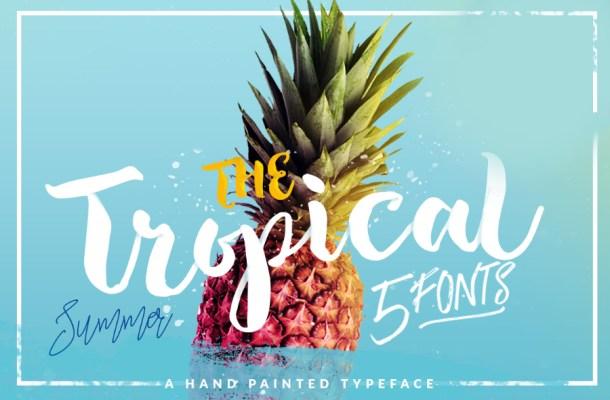 Tropical Brush Script Font Free