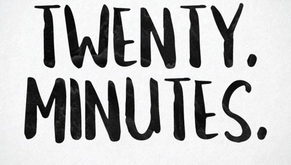 Twenty Minuntes Free Brush Font
