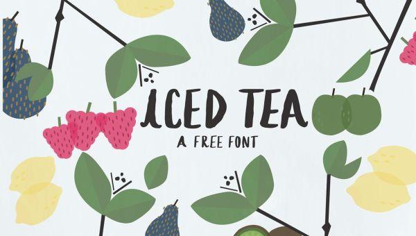 Iced Tea Free Handlettered Font