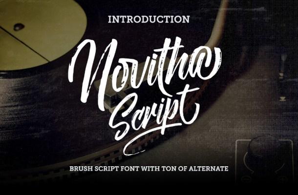 Novitha Script Free Font