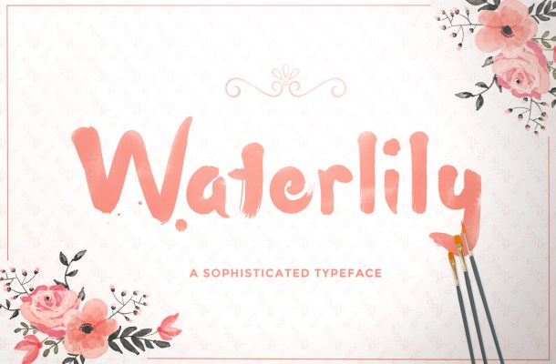 Waterlily Free Handwritten Font