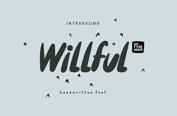 Willful Handwritten Brush Font