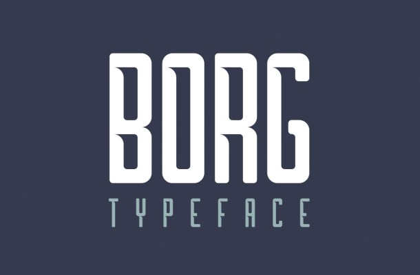 Borg Free Display Font