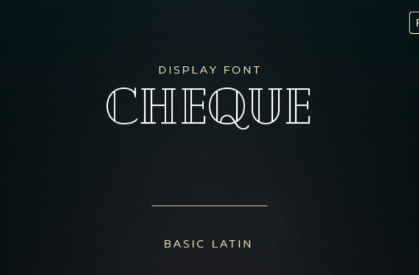 Cheque Free Display Font