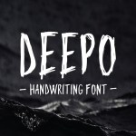 Deepo Free Handwriting Font