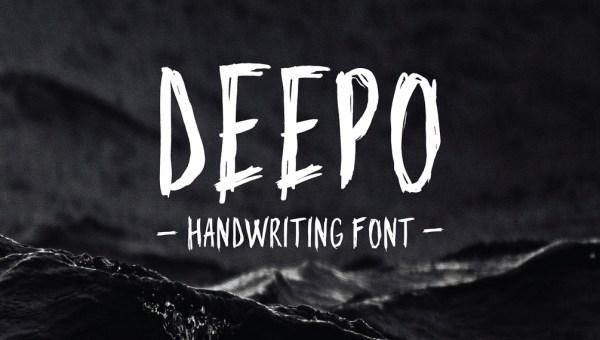 Deepo Free Handwriting Font