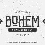 Bohem Press Free Vintage Font