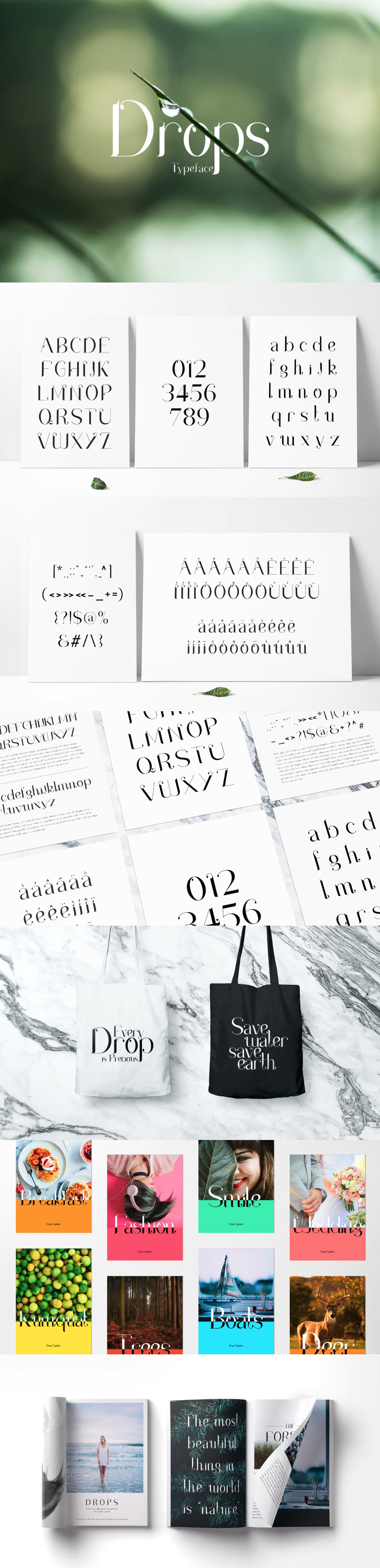 Drops Serif Typeface