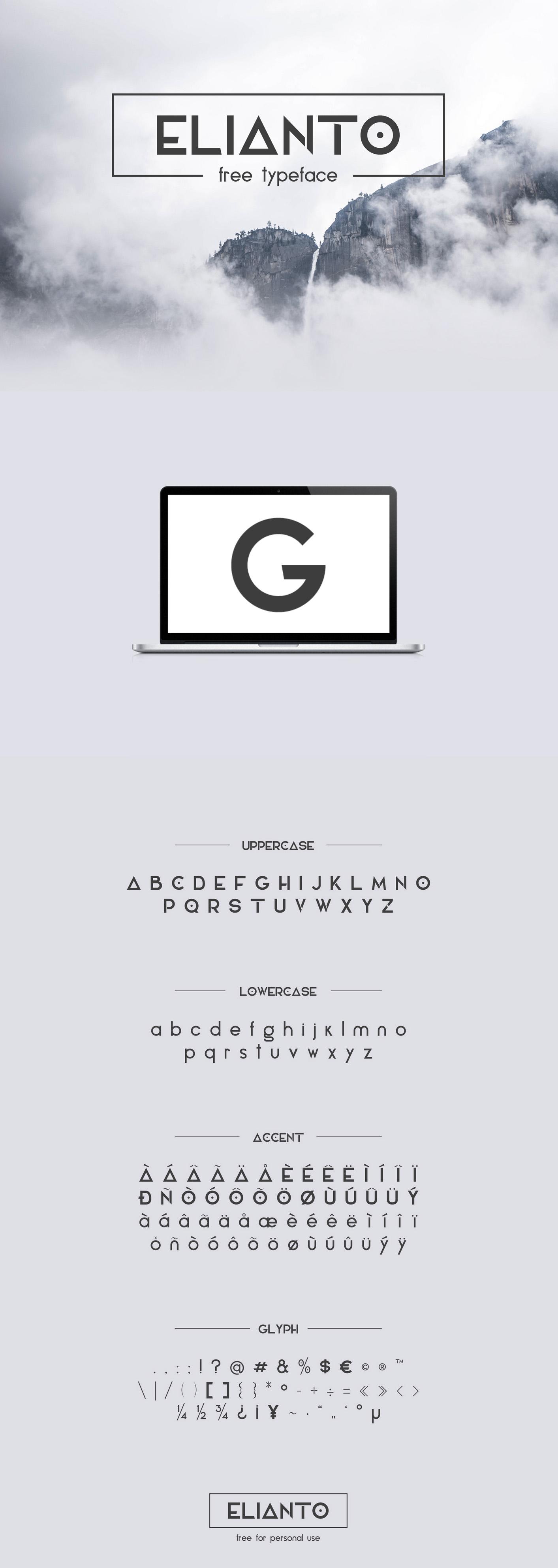 Elianto - Free Font on Behance