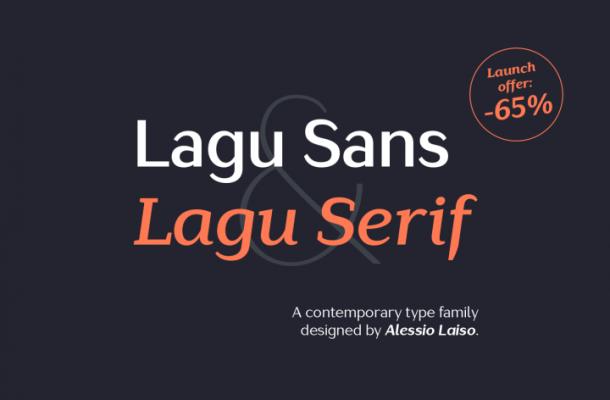 Lagu Serif & Lagu Sans Light Free Font