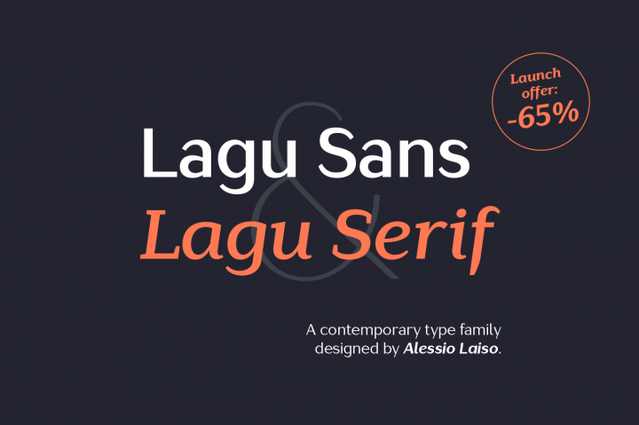 FREE Lagu Serif Light Italic & Lagu Sans Light