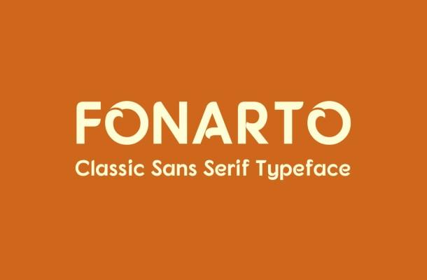 Fonarto Free Sans Serif Typeface