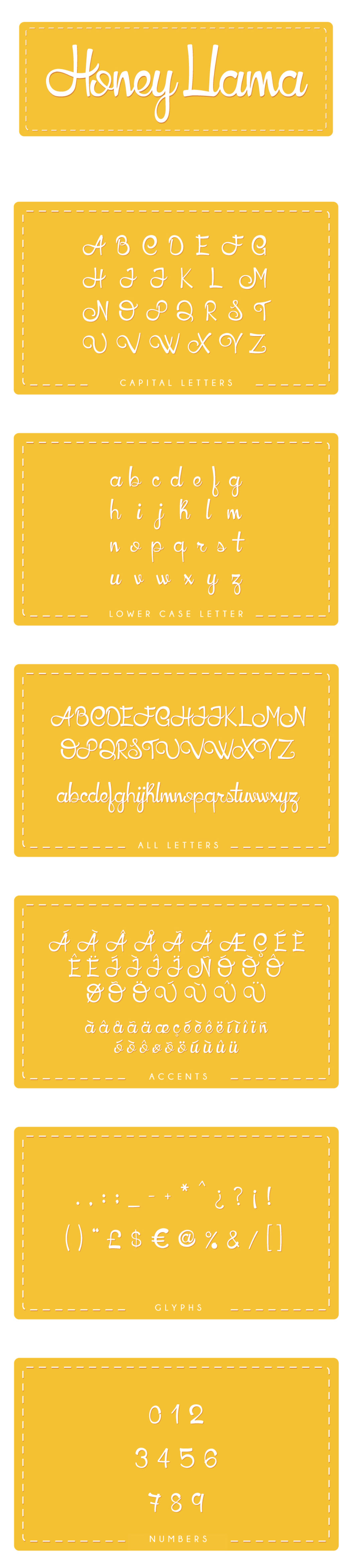 HoneyLlama Font