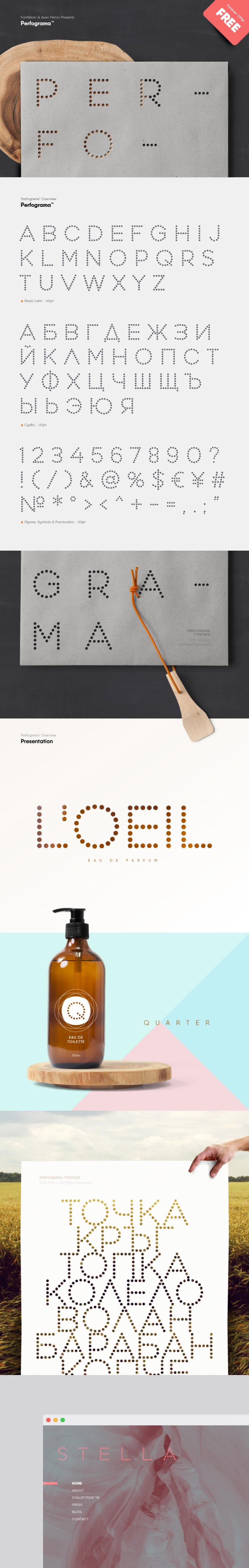 Perfograma free font - Fontfabric