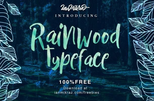 Rainwood Free Handmade Font